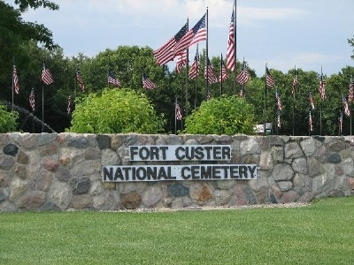Ft. Custer veterans burial services in Three Rivers